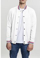 Urban Classics 3-Tone College Sweat Jacket white/firered/navy