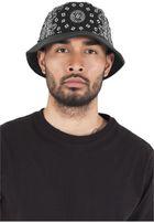 Urban Classics Bandana Leather Imitation Brim Bucket Hat black