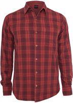 Urban Classics Checked Garment Dye Shirt blk/red