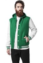 Urban Classics Hooded Oldschool College Jacket grn/wht