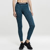 Urban Classics Ladies Active Melange Logo Leggings turquoise/black/black