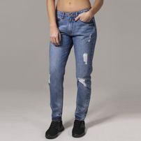 Urban Classics Ladies Boyfriend Denim Pants ocean blue