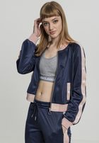 Urban Classics Ladies Button Up Track Jacket navy/lightrose/white
