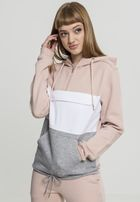 Urban Classics Ladies Color Block Sweat Pullover lightrose/grey/white
