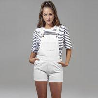 Urban Classics Ladies Short Dungaree white