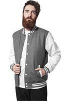 Urban Classics Oldschool College Jacket gry/wht
