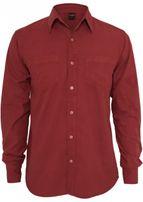 Urban Classics Pigment Dye Shirt ruby