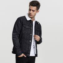 Urban Classics Sherpa Denim Jacket black washed