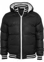 Urban Classics Shiny 2-tone Hooded College Bubble Jacket black