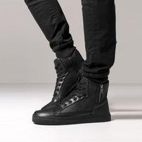 Urban Classics Zipper High Top Shoe Black