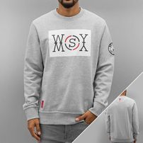 Who Shot Ya? Logo Sweatshirt Grey Melange