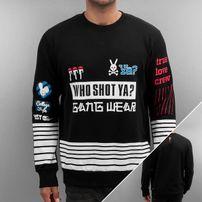 Who Shot Ya? True Love Crew Sweatshirt Black