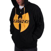 Férfi Pulóver Wu-Wear WU Tang zip Hoodie Black Yellow