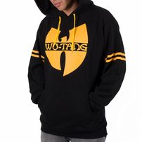 Férfi Pulóver Wu-Wear WU36 Hoodie Black Yellow
