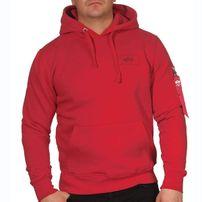 Férfi pulóver Alpha Industries Back Print Hoody Red