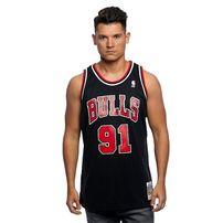 Mitchell & Ness Chicago Bulls #91 Dennis Rodman black / red Swingman Jersey