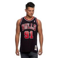 Mitchell & Ness Chicago Bulls  #91 Dennis Rodman black/red Swingman Jersey
