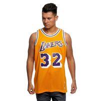 Mitchell & Ness Los Angeles Lakers #32 Magic Johnson yellow Swingman Jersey