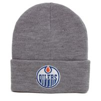 Téli Sapka Mitchell   Ness NHL Team Logo Cuff Knit Beanie Edmonton Oilers edeaa98afd