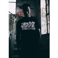 Mr. Tee Naughty By Nature Logo Tee Black