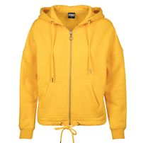 Pulóver Urban Classics Ladies Kimono Zip Hoody chrome yellow