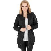 Urban Classics Ladies Long Bomber Jacket Black