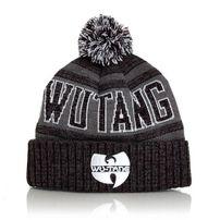 Wu-Tang Winter Bobble Beanie Grey White