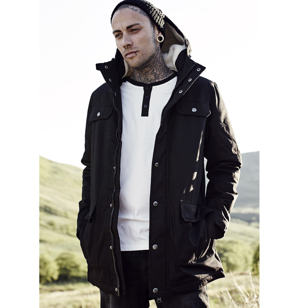 Férfi kabát Urban Classics Heavy Cotton Parka black - Gangstagroup ... a7a2e91ec2