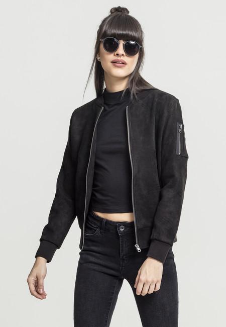 Női bomber kabát Urban classics Ladies Imitation Suede