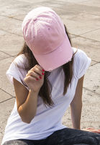 Urban Classics Low Profile Destroyed Cap pink